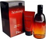 Christian Dior Fahrenheit Confezione Regalo 100ml EDT + 50ml Gel Doccia + 3ml Vaporizzatore Spray