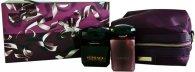 Versace Crystal Noir Confezione Regalo 90ml EDT + 100ml Lozione per il Corpo + Borsetta