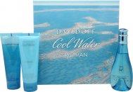 Davidoff Cool Water Confezione Regalo 100ml EDT + 75ml Lozione Corpo + 75ml Gel Doccia