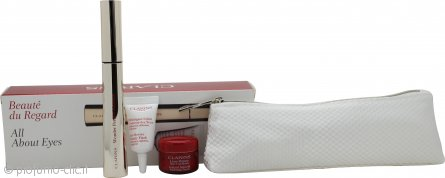 Clarins All About Eyes Confezione Regalo 7ml Wonder Perfect Mascara + 3ml Eye Revive Beauty Flash + 4ml Lisse Minute Instant Smooth Perfecting Touch Crema Occhi