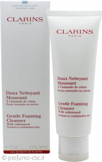 Clarins Cleansers and Toners Gentle Foaming Cleanser With Cottonseed 125ml Pelle Normale/Mista