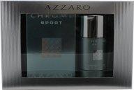 Azzaro Chrome Sport Confezione Regalo 100ml EDT Spray + 200ml Gel Doccia