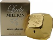 Paco Rabanne Lady Million Eau de Parfum 80ml Spray - Edizione di Natale da Collezionisti