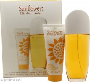 Elizabeth Arden Sunflowers Confezione Regalo 100ml EDT + 100ml Lozione per il Corpo
