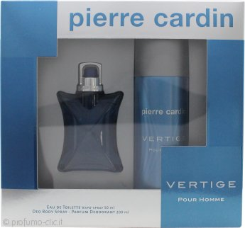 Pierre Cardin Vertige Pour Homme Confezione Regalo 50ml EDT Spray + 100ml Deodorante Spray