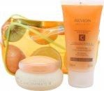 Revlon Absolutes Vitamin C Concentrate Confezione Regalo 50ml Idratante Giorno & Notte + 75ml Gel Doccia + Borsa
