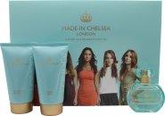 Made in Chelsea Confezione Regalo 50ml EDP + 150ml Crema da Doccia + 150ml Lozione Luminosa