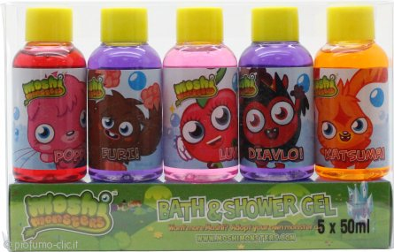 Moshi Monsters Moshi Monsters Confezione Regalo 5 x 50ml Bagnoschiuma & Gel Doccia