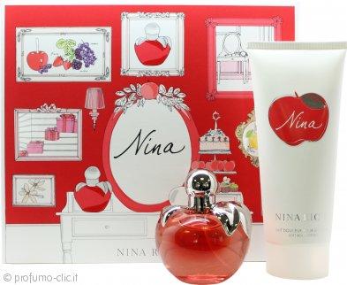Nina Ricci Nina Confezione Regalo 80ml EDT + 200ml Lozione per il Corpo