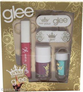 Glee Divas Free Your Glee Confezione Regalo Let's Face It - 10.2ml Lucidalabbra + 6.8ml Smalto + 2g Polvere Occhi + 2 Lime