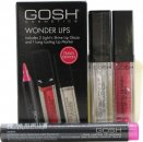GOSH Wonder Lips Confezione Regalo 2.5ml Lip Marker di Lunga Durata - 002 Pink + 2 x 6 ml Light'n Shine Lip Glaze - 01 & 08