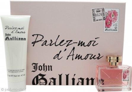 John Galliano Parlez-Moi dAmour Confezione Regalo 50ml EDT + 125ml Lozione per il Corpo