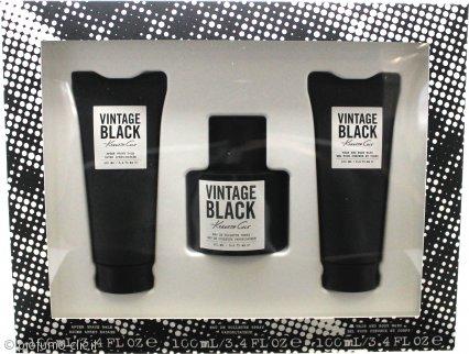 Kenneth Cole Vintage Black Confezione Regalo 100ml EDT + 100ml Balsamo Dopobarba + 100ml Doccia Shampoo