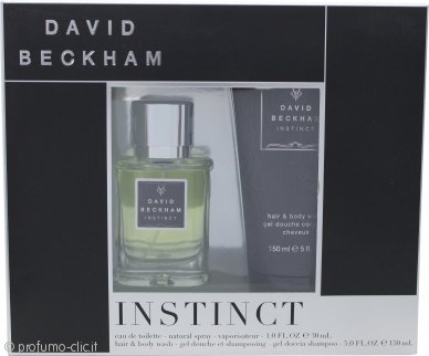 David Beckham Instinct Confezione Regalo 30ml EDT + 150ml Hair & Body Wash
