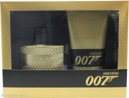 James Bond 007 Gold Confezione Regalo 50ml EDT Spray + 150ml Gel Doccia