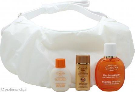 Clarins Sunshine Fragrance Eau Ensoleillante Confezione Regalo 100ml Eau Fraiche + 50ml Lozione Corpo + 30ml Autoabbronzante Liquido