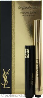 Yves Saint Laurent Touche Eclat Radiant Touch Confezione Regalo 2.5ml Touche Eclat No. 2  Ivoire Lumiere + 2ml Mascara Volume Effet Faux Cils Black