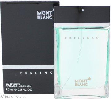 Mont Blanc Presence Eau de Toilette 75ml Spray