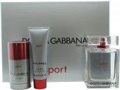 Dolce&Gabbana The One Sport Confezione Regalo 100ml EDT + 50ml Gel Doccia + 75ml Deodorante Stick
