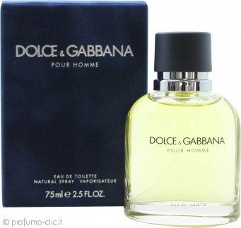 Dolce & Gabbana Pour Homme Eau De Toilette 75ml Spray