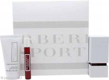 Burberry Sport Confezione Regalo 50ml EDT + 50ml Lozione per il Corpo + 7.5ml Mini