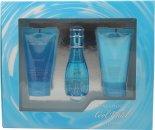 Davidoff Cool Water Confezione Regalo 30ml EDT + 50ml Lozione per il Corpo + 50ml Gel Doccia
