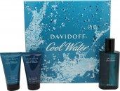 Davidoff Cool Water Confezione Regalo 75ml EDT + 50ml Gel Doccia + 50ml Balsamo Dopobarba