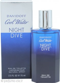 Davidoff Cool Water Night Dive Eau de Toilette 75ml Spray
