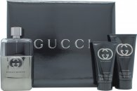 Gucci Guilty Pour Homme Confezione Regalo Travel Collection 90ml EDT + 50ml Balsamo Dopobarba + 50ml All Over Shampoo