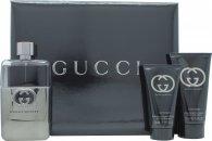 Gucci Guilty Pour Homme Confezione Regalo Travel Collection 90ml EDT + 50ml Balsamo Dopobarba + 50ml All Over Shampoo