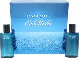 Davidoff Cool Water Confezione Regalo 75ml EDT Spray + 75ml Lozione Dopobarba