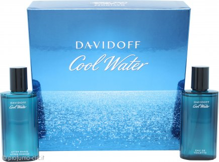 Davidoff Cool Water Confezione Regalo 75ml EDT Spray + 75ml Lozione Dopobarba
