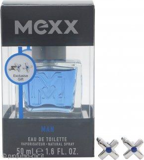 Mexx Man Confezione Regalo 50ml EDT Spray + Gemelli