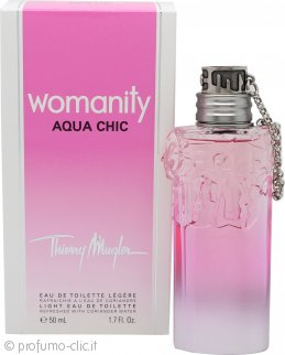 Thierry Mugler Womanity Aqua Chic Eau De Toilette 50ml Spray