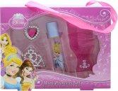 Disney Princess Ladies Confezione Regalo Mini Princess Set 8ml EDT Roll-On + Pettine + Tiara + Anello