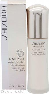 Shiseido Benefiance Wrinkle Resist 24 Emulsione Notte 75ml
