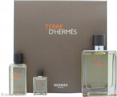 Hermes Terre D'Hermes Confezione Regalo 100ml EDT + 40ml Gel Doccia + 5ml EDT