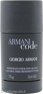 Giorgio Armani Code Deodorante Stick 75g Alcohol Free