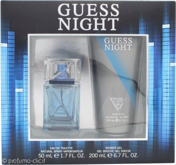 Guess Night Confezione Regalo 50ml EDT Spray + 200ml Gel Doccia