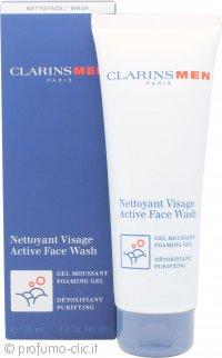 Clarins Men Active Face Wash - Foaming Gel 125ml