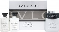 Bvlgari Man Extreme Confezione Regalo 3 x 15ml EDT Spray Ricaricabile
