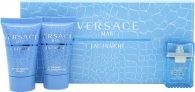 Versace Man Eau Fraiche Confezione Regalo 5ml EDT + 25ml Gel Doccia + 25ml Balsamo Dopobarba