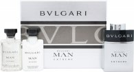 Bvlgari Man Extreme Confezione Regalo 60ml EDT Spray + 40ml Balsamo Dopobarba + 40ml Shampoo e Gel Doccia