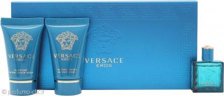 Versace Eros Confezione Regalo 5ml EDT + 25ml Gel Doccia + 25ml Balsamo Dopobarba