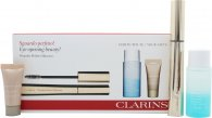 Clarins Wonder Perfect Confezione Regalo 7ml Mascara 01 Nero + 30ml Instant Eye Struccante Occhi + 5ml Instant Correttore
