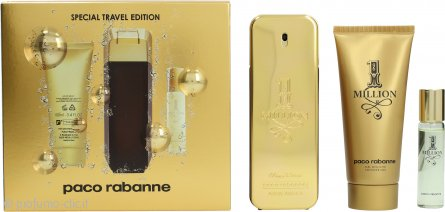 Paco Rabanne 1 Million Confezione Regalo 100ml EDT Spray + 100ml Gel Doccia + 15ml EDT Spray