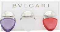Bvlgari Omnia Collection Jewel Charm Coffret Confezione Regalo 15ml EDT Omnia Crystalline + 15ml EDT Omnia Coral + 15ml EDT Omnia Amethyste