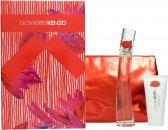 Kenzo Flower Confezione Regalo 50ml EDP Spray + 50ml Lozione Corpo + Borsetta