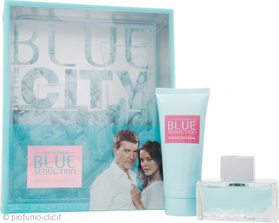 Antonio Banderas Blue Seduction for Women Confezione Regalo 100ml EDT + 100ml Lozione Corpo