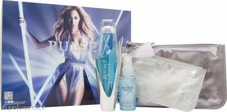 Beyonce Pulse Confezione Regalo 100ml EDP Spray + 60ml Sparkling Body Mist + 2 x Borsette